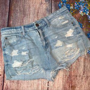 Pistola Super Distressed Cut Off Jeans Shorts 29